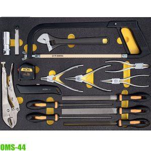 OMS-44 Bộ dụng cụ 16 món gồm kìm dũa cưa, kết hợp tủ đồ nghề ELORA