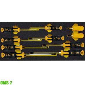 OMS-7 Bộ tua vít 10 món gồm dầu dẹp và pake. Dụng cụ cho tủ đồ nghề.