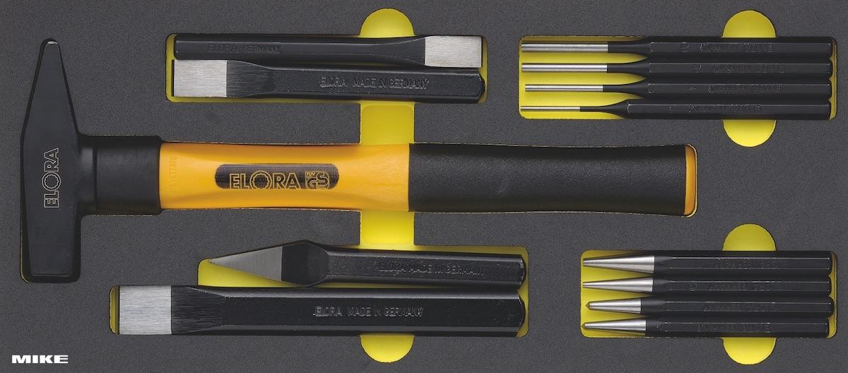 Bộ búa đục 13 chi tiết dùng cho tủ dụng cụ đồ nghề. ELORA Germany OMS-8
