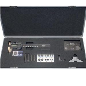 209334 Dưỡng đo 19 chi tiết, bao gồm thước kẹp 150mm.