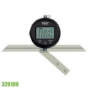 320100 thước đo góc vạn năng bằng điện tử, kết nối USB, 3 lưỡi đo.