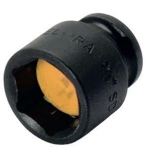 789MG đầu tuýp đen 6 cạnh có nam châm, đầu vuông 3/8 inch