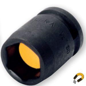 790MG đầu tuýp đen 6 cạnh hệ mét có nam châm, đầu vuông 1/2 inch