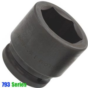 """793-Series đầu tuýp đen 6 cạnh hệ mét, đầu vuông 1.1/2"""""""