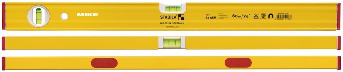 Nivo nhôm hợp kim có gân cường lực dòng 80 ASM - Stabila Germany