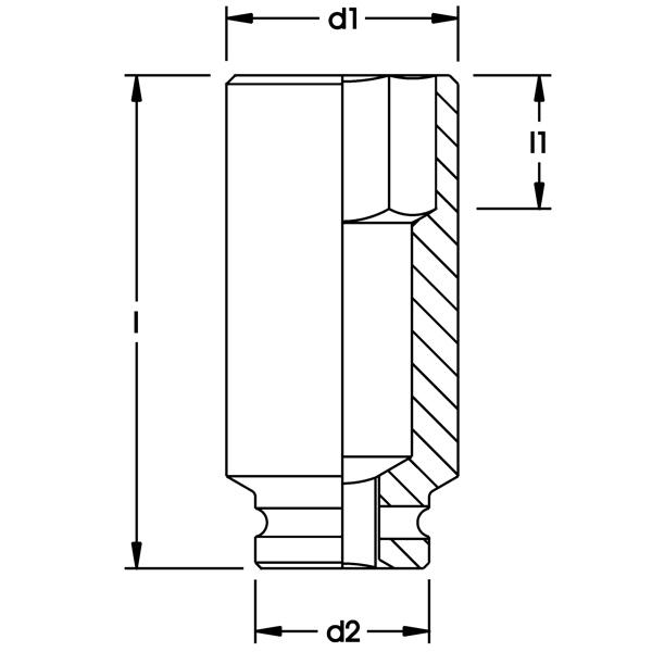 Bản vẽ kích thước impact socket ELORA 792LT