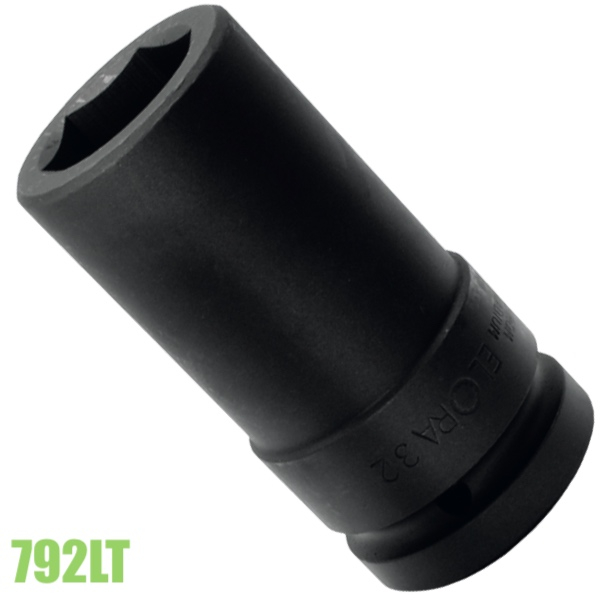 Đầu khầu đen 1 inch impact socket loại dài ELORA 792LT