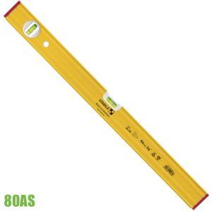 80AS thước thủy dài từ 30cm đến 120 cm, 2 bọt thủy STABILA Germany.