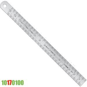 1017010 thước inox bản 20mm, dày 1.0mm, vạch chia khắc ăn mòn axit