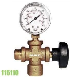 115110 cụm van đóng mở và đồng hồ áp suất cho bơm thử áp lực.