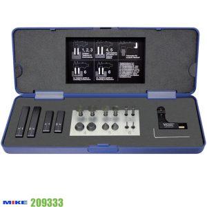 209333 bộ dưỡng đo cho thước kẹp 18 chi tiết trong vali chuyên dùng.