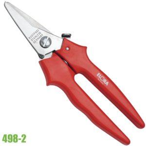 498-2 kéo inox có khóa lưỡi cắt dài 190mm, size 7.5 inch.