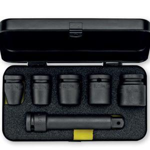 790S6 bộ tuýp đen 6 chi tiết hệ mét và inch, đầu vuông 1/2 inch.
