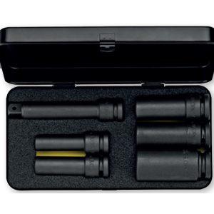 790S6LT bộ tuýp đen 6 chi tiết hệ mét, đầu vuông 1/2 inch