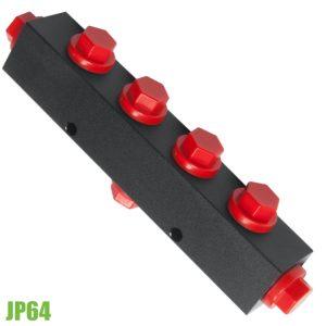 JP64 bộ chia ngả 1 vào 6 ra loại ngắn, áp suất dầu max 700 bar.