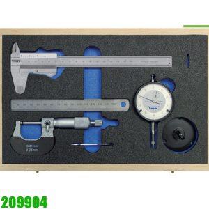 209904 Bộ panme thước cặp đồng hồ so, thước lá. Vogel Germany