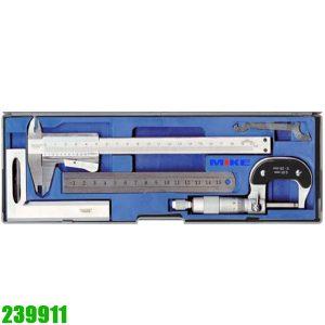 239911 Bộ dụng cụ đo 4 chi tiết gồm thước kẹp, panme, thước lá, eke vuông