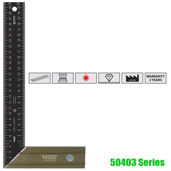50403 Series Thước eke kỹ thuật 150-500mm, Vogel Germany