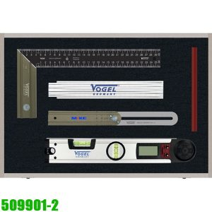 509901.2 Bộ thước thợ mộc đa năng 5 chi tiết. Vogel Germany