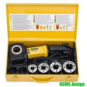 REMS Amigo, máy tiện ren cầm tay, chạy điện