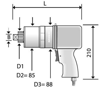 Bản vẽ kích thước bộ nhân lực CLS bằng khí nén loại cố định