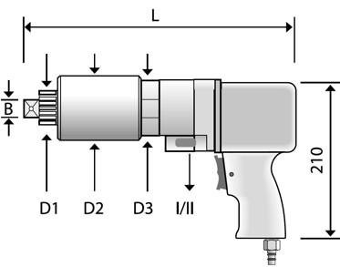 CLS2 cờ lê nhân lực bằng khí nén 2 cấp tốc độ Alkitronic