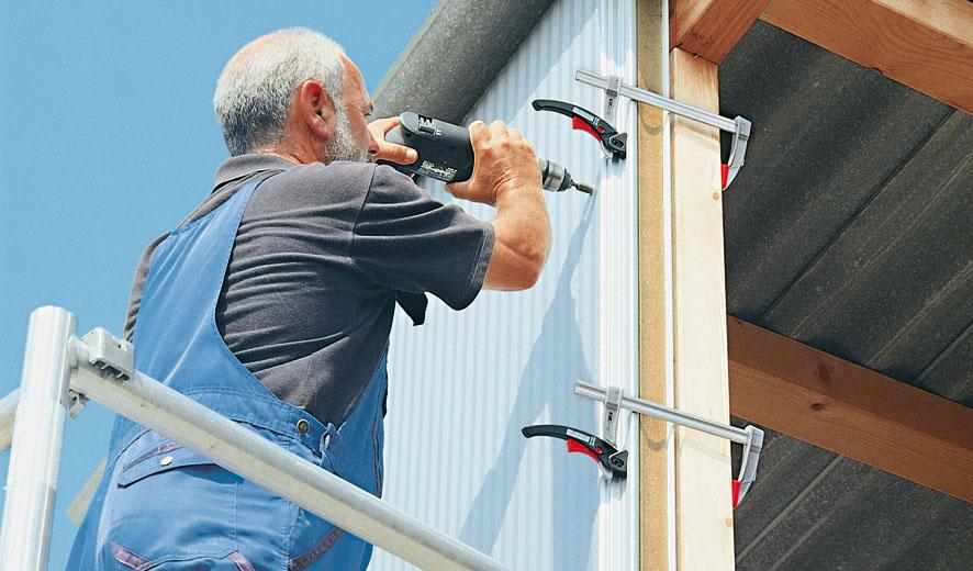 KLI Series Vam kẹp gỗ chữ F, ngàm 120-400mm. sản xuất tại Đức