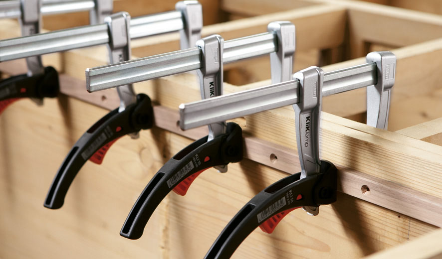 KLI Series Vam kẹp gỗ chữ F, ngàm 120-400mm. BESSEY Germany
