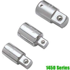 """1450-Series Đầu chuyển tuýp 1/4"""", dài 26-39mm, chuẩn DIN 3123"""