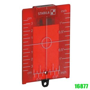 16877 ZP target plate, red