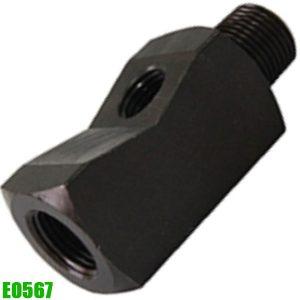 E0567 Co nối chữ T cho đồng hồ áp suất, chuẩn ren NPT 3/8 inch.