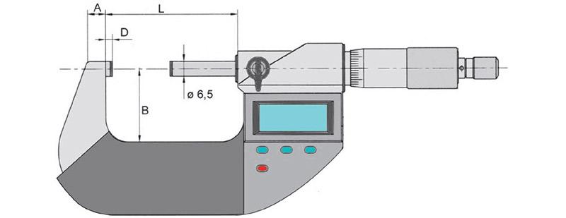 23013 bản vẽ kích thước panme điện tử cấp IP54 Vogel