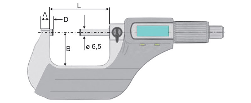 23106 bản vẽ kích thước panme điện tử cấp IP40 Vogel