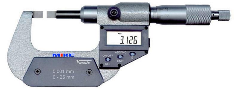23238 panme điện tử đo rãnh ngoài chống bụi IP40 Vogel
