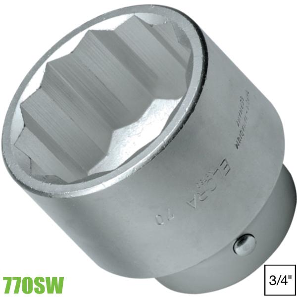 770SW Đầu chụp loại ngắn 12 cạnh vuông 3/4 inch Elora
