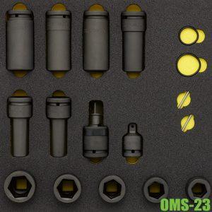 OMS-23 bộ đầu tuýp 17 chi tiết vuông 3/4 inch