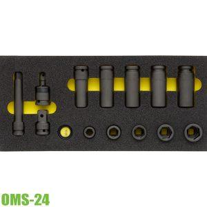 OMS-24 bộ đầu tuýp vuông 1/2 inch 17 món