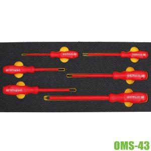 OMS-43 bộ tuốc nơ vít cách điện 6 món ELORA