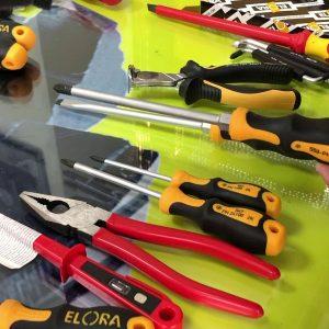 DN219P bộ đồ nghề sửa chữa điện nước cao cấp ELORA, MCC, Stabila