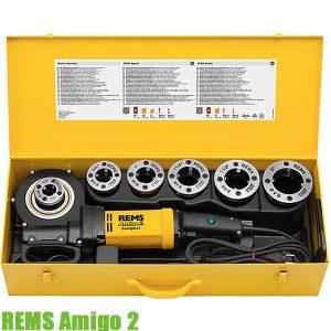 REMS Amigo 2 Máy tiện ren ống cầm tay 1/2 đến 2 inch, chạy điện