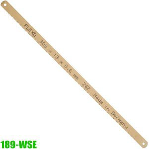 189-WSE Lưỡi cưa thép 1 mặt 300mm, 12 inch, chuẩn DIN 6494, form A