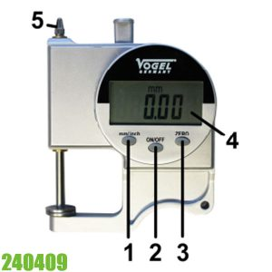 240409 Đồng hồ đo độ dày điện tử 0-25mm, ±0.01mm. Vogel Germany