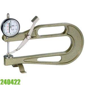 240422 240422 Đồng hồ đo độ dày vật liệu tấm dày 0-30 mm, độ chính các 0.1mm