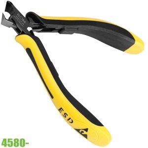 4580- kìm cắt linh kiện chống tĩnh điện mũi vát lệch 27 độ cắt chừa chân