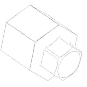 75121 Đầu chuyển Hexagon Link thành lục giác âm 55- 1 inch