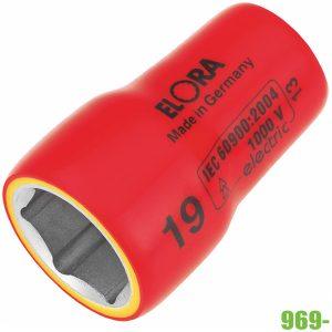 969- đầu tuýp lục giác cách điện 9-22mm vuông 3/8 inch ELORA