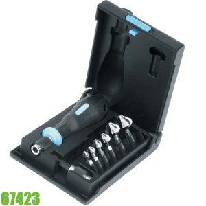 67423 Bộ mũi doa lỗ 8 chi tiết từ 6,3 - 20,5 mm, chuôi 1/4 inch