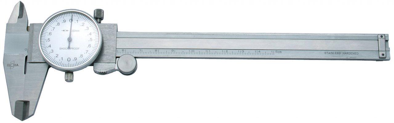 1515- thước kẹp đồng hồ bằng inox thang đo 150mm Elora
