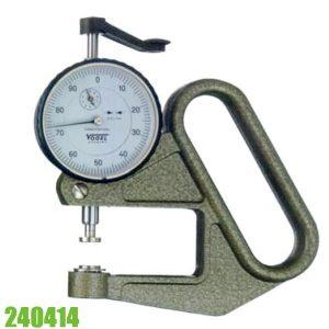 240414 Đồng hồ đo độ dày vật liệu 0-10 mm, độ chính xác 0.01mm, đầu đo phẳng.
