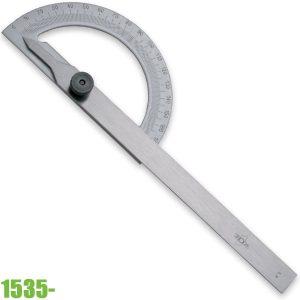 1535- Thước đo góc 0 – 180°, khóa bằng vít. ELORA Germany